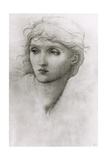 Study of a Girl's Head Giclee Print by Sir Edward Coley Burne-Jones