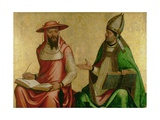 St. Jerome and St. Ambrose, C.1510 Giclee Print by Juan de Borgona