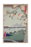 Suigin Grove and Masaki, on the Sumida River, from 'One Hundred Famous Views of Edo (Tokyo)', 1856 Giclee Print by Ando or Utagawa Hiroshige