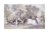 Edward Oxford's Attempt to Assassinate Queen Victoria and Prince Albert on Constitution Hill, on… Giclee Print by Ebenezer Landells