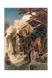 The Bazaar Near the Damascus Gate in Jerusalem Giclee Print by Carl Haag