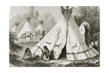 Comanche Indian Camp in the 1850s, from 'Le Tour Du Monde', Published in Paris, 1860s Giclee Print