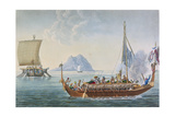 View of the Corocores of the Island of Guebe, from the Island of Pisang, from 'Voyage Autour Du… Giclee Print by Alphonse Pellion