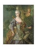 Luise Henriette Wilhelmine Von Anhalt-Dessau (1750-1811) as Diana, 1765 Giclee Print by Charles-amedee-philippe Van Loo