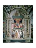 Pope Pius II (1405-64) Canonizes St. Catherine of Siena, 1503-08 Giclee Print by Bernardino di Betto Pinturicchio