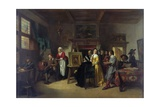 Rembrandt (1606-69) Visiting the Studio of Gabriel Metsu (1629-87) Giclee Print by Herman Frederick Carel Ten Kate