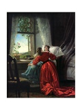 Beside a Sick Woman Giclee Print by Baron Mikhail Petrovich Klodt von Jurgensburg