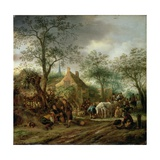 Travellers at an Inn Giclee Print by Isack van Ostade