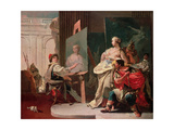 Alexander and Campaspe in the Studio of Apelles Giclee Print by Giovanni Battista Tiepolo