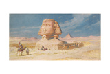 The Sphynx of Giza with the Pyramid of Mykerinos, 1874 Giclee Print by Carl Haag