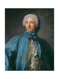 Portrait of a Gentleman in a Blue Coat Giclee Print by Jean-Marc Nattier