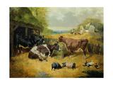 Farmyard Scene, 1853 Giclee Print by John Frederick Herring I