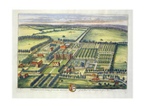 Doddington in the County of Lincoln Engraved by Johannes Kip (C.1652-1722) Giclee Print by Leonard Knyff
