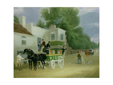 Kidd's Omnibus to Turnham Green at the Angel Inn Giclee Print by James Pollard