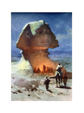 A Night Encampment before the Sphinx Giclee Print by Carl Haag