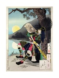 Hideyoshi Blowing a Conch Shell, from '100 Phases of the Moon' Wydruk giclee autor Tsukioka Kinzaburo Yoshitoshi