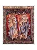 Angeli Laudantes, Tapestry Designed by Henry Dearle with Figures by Edward Burne-Jones Originally… Giclee Print