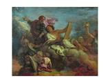 St. Paul Commanding St. Luke Giclee Print by Charles de La Fosse