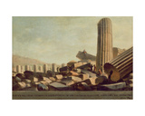Great Temple at Selinunte Giclee Print by Luigi Mayer