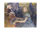 Lucie Leon at the Piano, 1892 Giclee Print by Berthe Morisot