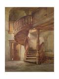 Spiral Staircase. Limburg an Der Lahn Giclee Print by Johann Martin Gensler