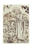 The Sermon on the Mount Giclee Print by Dante Charles Gabriel Rossetti