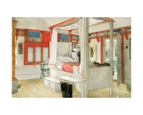 Daddy's Room, from 'A Home' Series, C.1895 Giclee Print by Carl Larsson