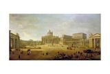 St. Peter's Basilica Giclee Print by Gaspar van Wittel