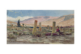 The Mosque of Melike Near Baalbek Destroyed by an Earthquake, 1859 Giclee Print by Carl Haag