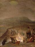 Baptism of Christ, C.1710 Giclée-tryk af Aert de Gelder