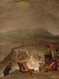 Baptism of Christ, C.1710 Impressão giclée por Aert de Gelder