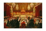Banquet Given by the Corporation of London to the Prince Regent, the Emperor of Russia and the… Giclee Print by Luke Clennell