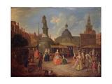 View of Stocks Market, City of London Giclée-Druck von Joseph Van Aken