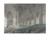 Interior of the Lower Ambulatory of the Colosseum, Rome, 1778 Giclee Print by John Robert Cozens