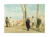 Bedouin from the Sahara Desert Making Enquiries at Giza, 1859 Giclee Print by Carl Haag