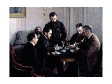 The Bezique Game, 1881 Giclee Print by Gustave Caillebotte