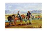 Chilean Huasos, C.1836 Giclee Print by Johann Moritz Rugendas