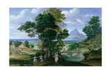 Landscape with People, Early 17th Century Giclée-Druck von Giovanni Battista Viola