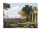 View of the Sea, Port and Amphitheatre of Pola Giclee Print by Jan Frans van Bloemen
