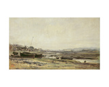 Fishing Boats Giclee Print by Charles Francois Daubigny