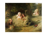 The Nestlings, 1870 Giclee Print by George Bernard O'neill