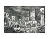English Coal Mine from 'Cyclopaedia of Useful Arts and Manufactures', Edited by Charles… Giclee Print by Josiah Wood Whymper