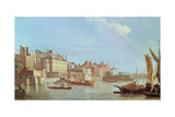 View Downstream from Westminster Bridge, C.1774 Giclee Print by Samuel Scott