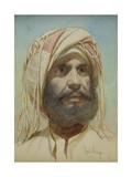 Portrait of a Bearded Tribesman Giclee Print by Carl Haag