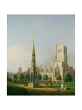 A View of Bristol High Cross and Cathedral, C.1750 Reproduction procédé giclée par Samuel Scott