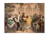 Le Quadrille a Bullier Giclee Print by Philippe Jacques Linder