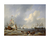 The Battle of Camperdown on 11th October 1797 Giclee Print by Petrus Johann Schotel