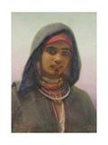 'Fatime of Abukir', Portrait of an Egyptian Fellaheen Girl, 1858 Giclee Print by Carl Haag