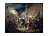 Madame Lamartine Adopting the Children of Patriots Killed at the Barricades in Paris During the… Giclee Print by Francois Claudius Compte-Calix
