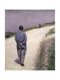 Pere Magloire on the Road to Saint-Clair, Etretat, 1884 Giclée-vedos tekijänä Gustave Caillebotte